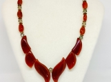 Carnelian Crystal necklace, chakra necklace,