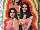 Charlies Angels silkscreen on canvas on board