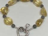 Chunky Citrine Labradorite bracelet