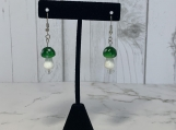 Green Mushroom Earrings