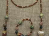 Earth Tone Lariat Necklace Set