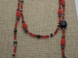 Cinnabar Lariat Necklace set