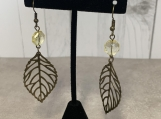 Leaves and Citrine Earrings