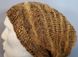 Maize hat with long ribbed brim