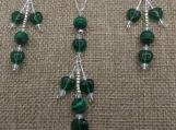 Malachite Pendant Set