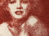 Marilyn Monroe silkscreen and glitter on canvas