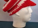 crocheted newsboy hat