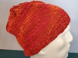 Ribbed brim candy apple beanie