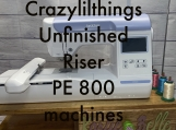 Riser with drawer for PE800 size embroidery machines UNFINISHED