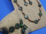 Serpentine and Jasper Necklace Set