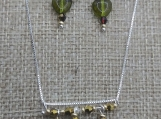 Tiger's Eye Bar Necklace And Earring Set