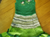 two robins green dress with flair