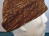 walnut hat with long rolled brim