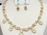 Wedding, Bridal Necklace, pear necklace, crystals