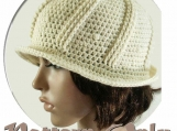 PDF Pattern Only, Crochet Deco-style Brimmed Hat
