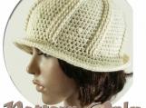 PDF Pattern Only, Crochet Deco-style Brimmed Hat
