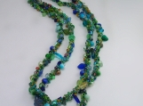 Not your grandmas Spiral rope necklace/GreenMix