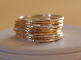 SET OF 9 14K GOLD FILLED & STERLING SILVER STACKABLE RINGS