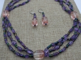 Amethyst and Bi-Colored Quartz Set