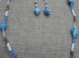 Blue Quartzite Necklace and Earring Set