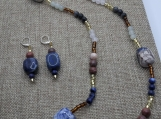 Sodalite and Agate Necklace and Earrings