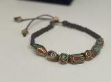 Tibetan bead bracelet, macrame bracelet, boho
