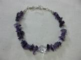 Amethyst and Swarovski Bracelet