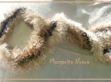 Brown Shaggy Caterpilar - Scarf