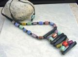 Chevron Bone Beaded Necklace