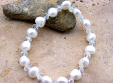 Freshwater Pearl Stetch Easy On And Off Bracelet