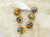 Glass Earrings Multi Colored Dangle