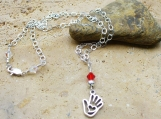 Heart in Hand Necklace Sterling Silver - Beautiful