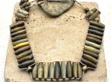 Horn Bead Woven Necklace/Choker - Beautiful - Unique - Unisex