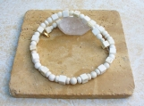 Howlite, Sponge Coral and Bone Necklace - Unisex