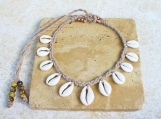 Nigerian Matte Cowrie Shell Necklace