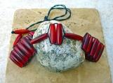 Red Horn Bead Designer Choker Unisex