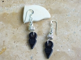 Tanfouk Talhakimt Black Bead with Sterling Silver Accents Earrings