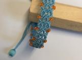 Bohemian  wax rope bracelet Lozenge pattern handmade woven & braided jewelry