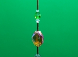 Emerald Green Heart Adjustable Prism
