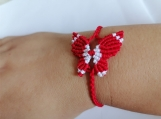 Fashion Charm Red Butterfly Woven Temperament of  Bracelet Handmade  Braided  Wristband