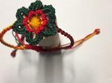 Single flower braided women's bracelets