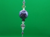 Grape Colored Prism with Crystal Heart