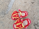 Handmade  Red Butterfly Baby Strap Sandals SZ 1-2 years old