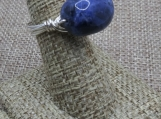 Sodalite Sterling Silver Wire Wrap Ring