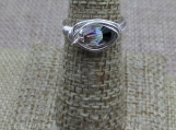Sterling Silver Wire Wrap Ring made with Swarovski Crystal Duo