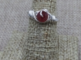 Sterling Silver Wrap Ring made with Red Swarovski crystal