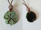 Anu Necklace Sumerian Pendant Sea Green Ceramic Cuneiform Amulet