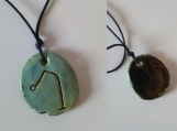 Archangel Raphael Necklace Ceramic Sea Green Angel Pendant Sigil Sacred Protection