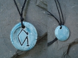Archangel Uriel Necklace Turquoise Pendant