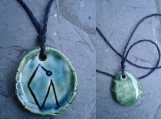 Archangel Uriel Necklace Turquoise Green